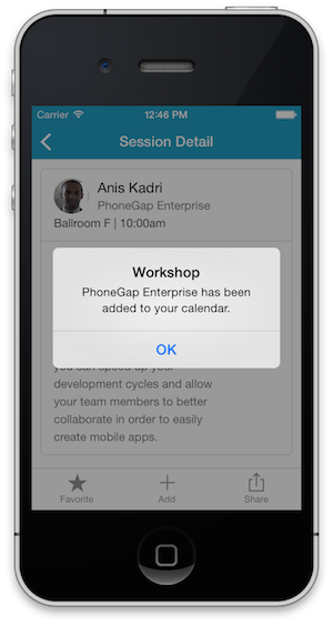 Phonegap workshop for Phonegap project template